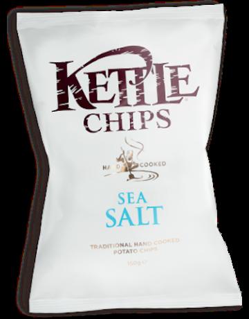 Kettle Chips sea salt (θαλασσινό αλάτι) 150 g