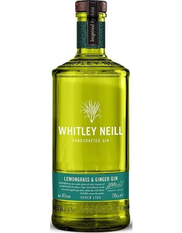 Lemongrass and Ginger Gin, Whitley Neil Handcrafted Dry Gin 700 ml