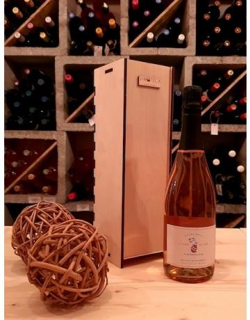 Ξυλοκιβώτιο με μία φιάλη κρασί Karanika Brut Cuvee Special ή Rose