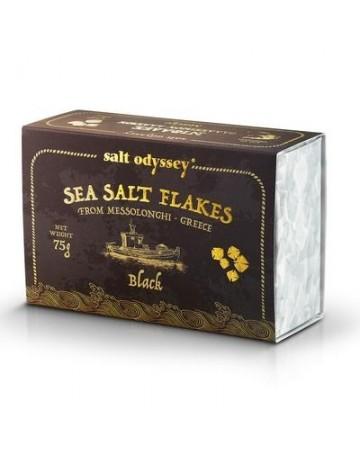 Νιφάδες Θαλασσινού αλατιού Μαύρο 75 g, Salt Odyssey