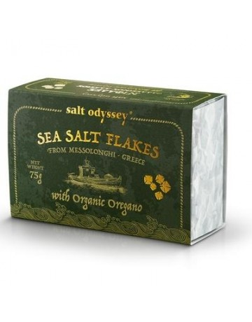 Νιφάδες Θαλασσινού αλατιού Ρίγανη Βιολογικό 75 g, Salt Odyssey