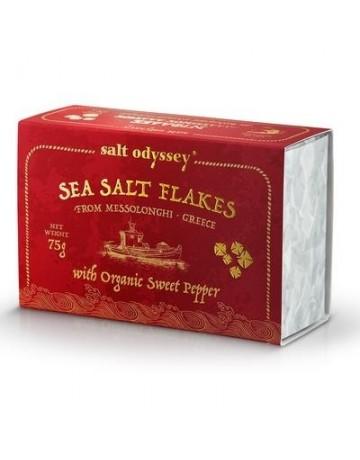 Νιφάδες Θαλασσινού αλατιού Πάπρικα Βιολογικό 75 g, Salt Odyssey