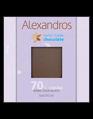 Σοκολάτα υγείας μαστίχα 90g, Alexandros Hand Made Chocolate