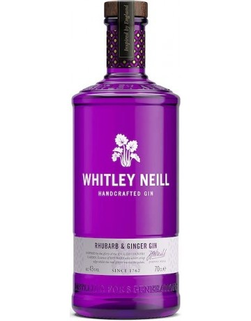 Rhubarb and Ginger Gin, Whitley Neil Handcrafted Dry Gin 700 ml