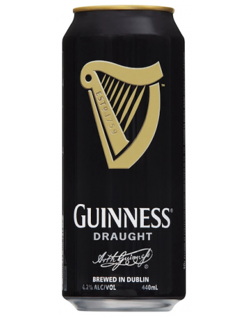 Guinness Stout Draught Can 440ml