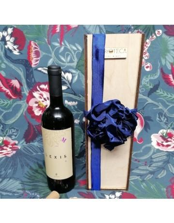 Σύνθεση δώρου 0255 | Ξυλοκιβώτιο κρασιού με 1 φιάλη Lexis M