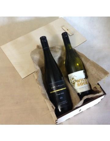 New Zealand, ξύλινη συσκευασία δώρου 2 φιαλών