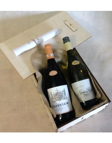 South Africa Experience, ξύλινη συσκευασία δώρου 2 φιαλών