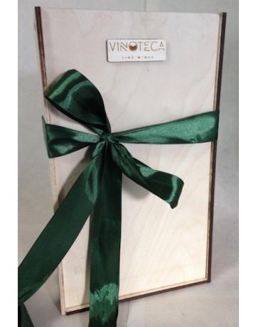 Μικρή Αρκούδα Ζαφειράκη, ξύλινη συσκευασία δώρου 2 φιαλών
