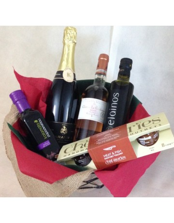 Συσκευασία δώρου 2 φιαλών κρασιού & deli προϊόντων 4-2016