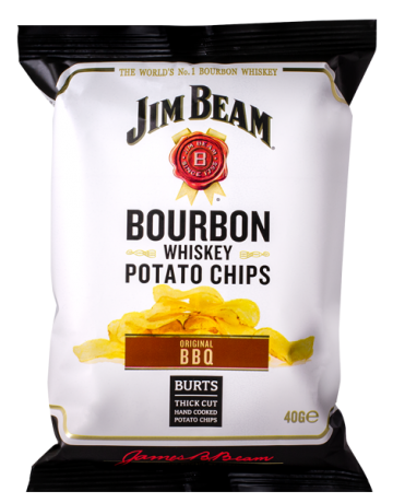 Jim Beam Bourbon Whiskey BBQ Potato Chips 120 g