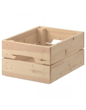 Ξύλινο κουτί πέντε με έξι φιαλών και deli