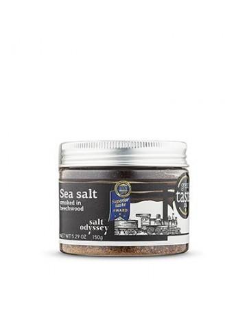 Θαλασσινό αλάτι καπνισμένο με φύλλα οξιάς 150 g, Salt Odyssey
