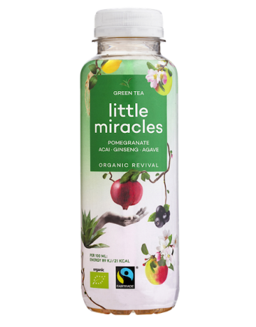 Green Tea Pomegranate- Acai- Ginseng- Agave (BIO), Little Miracles 330 ml