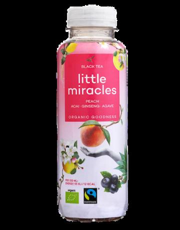Black Tea Peach- Acai- Ginseng- Agave (BIO), Little Miracles 330 ml
