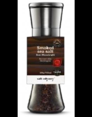 Κεραμικός μύλος inox με καπνιστό αλάτι Μεσολογγίου 200 g