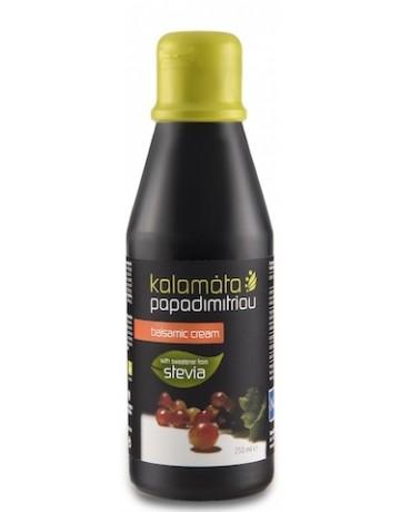 Κρέμα βαλσαμικού κλασική με γλυκαντικό απο το φυτό στέβια, Kalamata Papadimitriou