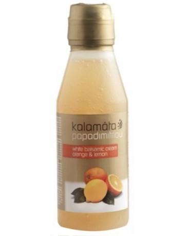 Κρέμα Βαλσαμικού Λευκή με Πορτοκάλι & Λεμόνι, Kalamata Papadimitriou