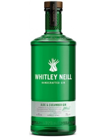 Aloe and Cucumber Gin, Whitley Neil Handcrafted Dry Gin 700 ml